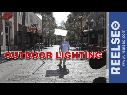 Outdoor video lighting outdoor lighting makes a difference in outdoor lighting tips techniques for video reelrebel ep 49 workwithnaturefo