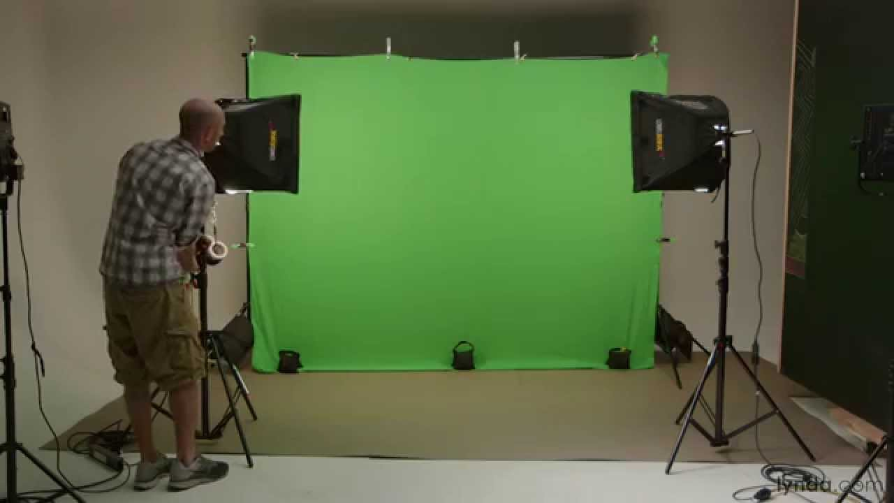 Video production tutorial: Green-screen lights and ...